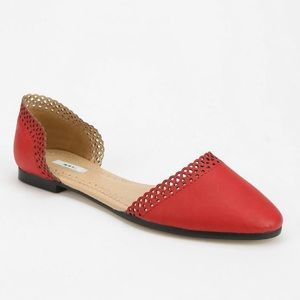 Kimchi Blue Red D'Orsay Flats